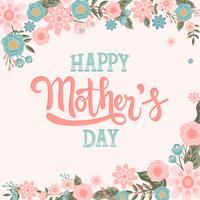 Iscrizione felice di calligrafia di vettore dell'iscrizione della mano di festa della Mamma - vettore