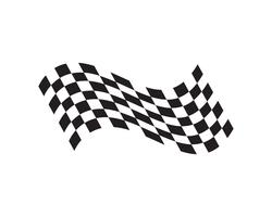 Icona della bandiera della corsa, logo design semplice vettore