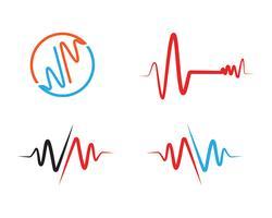 Vettori di logo linea ospedale battito cardiaco