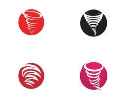 Illustrazione di vettore di simbolo di tornado