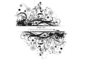 Vettore floreale nero dell'insegna di lerciume