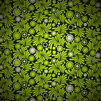 sfondo verde motivo floreale vettore