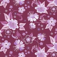 Carta da parati floreale viola senza soluzione di continuità vettore