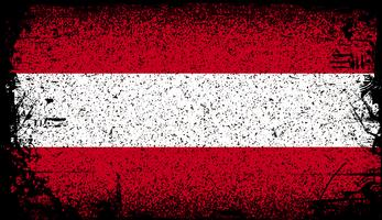 austria Bandiera del grunge vettore