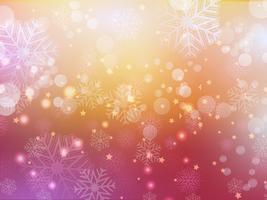 sfondo astratto di fiocco di neve. . Illustrazione vettoriale