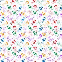 Back to School Sfondo di pattern disegnati a mano per bambini