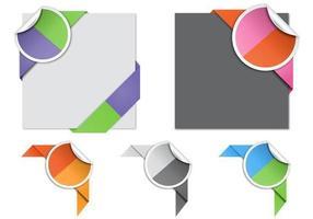 Pacchetto di vettore angolo colorato diviso