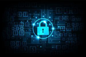 Sofisticata sicurezza delle informazioni digitali. vettore