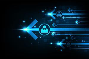 Sistema di comunicazione Internet veloce e moderno. vettore
