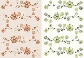 Confezione vettoriale carta da parati floreale