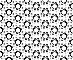 Vector seamless. Ripetizione geometrica ripetuta in bianco e nero