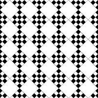 Vector seamless. Ripetizione geometrica quadrata in bianco e nero