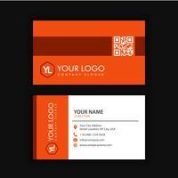 Biglietto da visita. Design set template per stile aziendale aziendale. Illustrazione vettoriale Colore arancione.