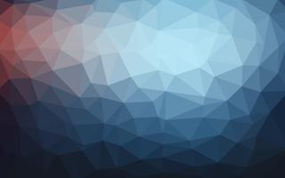 Luce blu scuro vettoriale Low poly crystal background. Poligono desi