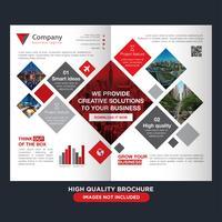 Brochure pieghevole di affari quadrati vettore