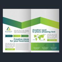 Brochure pieghevole di Green Business vettore