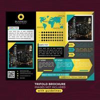 Brochure aziendale pieghevole a tre ante vettore