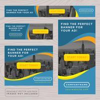 Collezione di banner pubblicitari colorati vettore