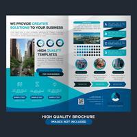 Brochure pieghevole aziendale blu