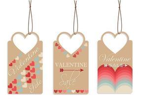 Pacchetto di tag vettoriale di San Valentino