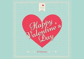 Retro vettore di carta da parati di San Valentino