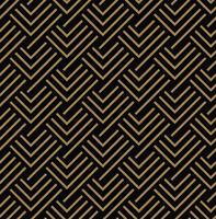 Modello senza cuciture con quadrati, striscia intrecciata diagonale oro nero vettore