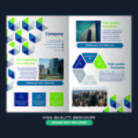 Brochure di piegatura geometrica variopinta di affari vettore