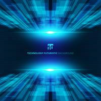Fondo futuristico di prospettiva digitale di concetto virtuale blu astratto di tecnologia con spazio per il vostro testo.