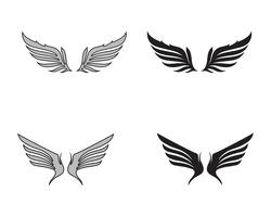 Logo di uccello falco ala
