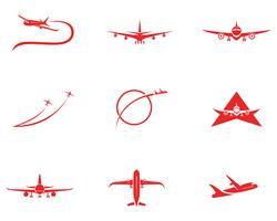 Progettazione dell'illustrazione di vettore dell'icona dell'aeroplano