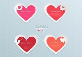 Pacchetto di vettore del cuore di carta di San Valentino