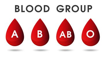 Gocce di sangue rosso e donazioni di sangue da sangue. vettore