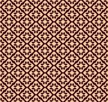 Modello lineare senza cuciture con eleganti linee curve e pergamene ornamentali.