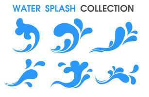 Icona di spruzzi d'acqua Simboli semplici e piatti.