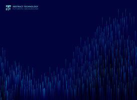 Le linee moderne futuristiche astratte hanno composto di fondo d'ardore del blu di concetto della tecnologia