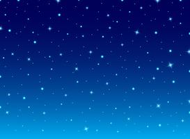 Cielo blu astratto di notte con il fondo dell'universo delle stelle. vettore