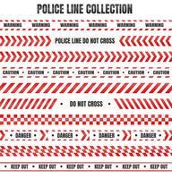 Nastro rosso e bianco della polizia Per avvertire di aree pericolose vettore