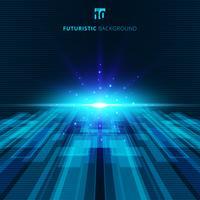 Fondo digitale futuristico di concetto virtuale blu astratto di tecnologia