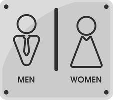 Temi di icone per toilette per uomini e donne Sembra semplice e moderno. Illustrazione vettoriale
