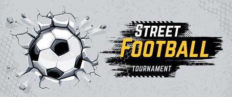 Illustrazione di vettore di progettazione di calcio di strada