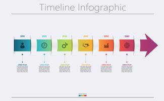 Le icone infographic di cronologia di visualization.arrow di dati di gestione hanno progettato per il modello astratto del fondo.