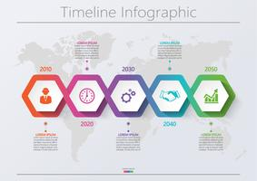 Visualizzazione dei dati aziendali. Icone infographic di cronologia progettate per modello astratto della priorità bassa.