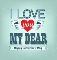 Ti amo caro giorno di San Valentino vettoriale