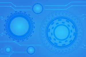 concetto di comunicazione digitale per lo sfondo della tecnologia vettore