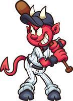 mascotte di cartone animato diavolo vettore