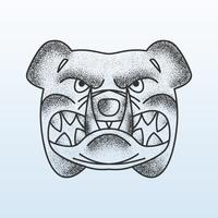Ombreggiatura Stipple Face Bulldog