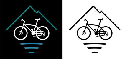 Illustrazione di vettore di logo del mountain bike