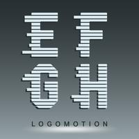 Modello di carattere logotipo vettore