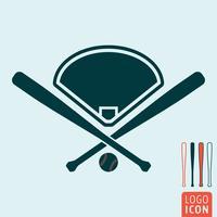 Icona di baseball isolata vettore