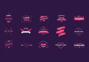 Pacchetto di vettore del distintivo di San Valentino